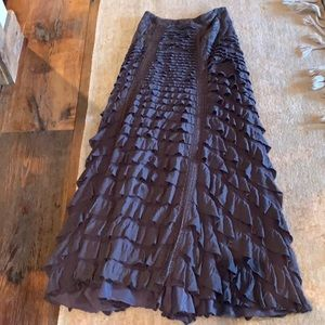 ISO don't buy! Free people ruffle maxi skirt